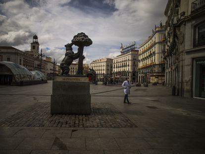 Madrid's popular Puerta del Sol, deserted on March 23, at the beginning of Spain's lockdown.