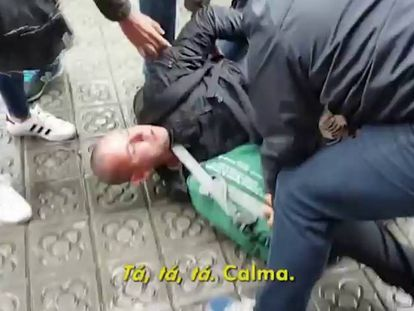 The fugitive's arrest in the Catalan capital.