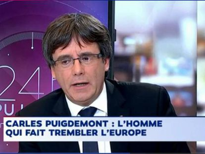 """Carles Puigdemont on French television: """"The man who is making Europe quake."""""""