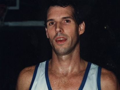 Former basketball player Matthew White, who met his wife while playing the sport in Spain.