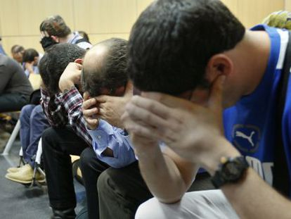 The first session of the trial of 18 neo-Nazis accused of belonging to FAS.