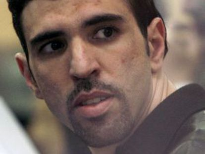 Jamal Zougam, pictured during the 2007 trial in Madrid.