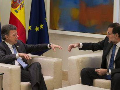 Santos and Rajoy in Madrid on November 3.