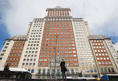 The Edificio España in downtown Madrid.