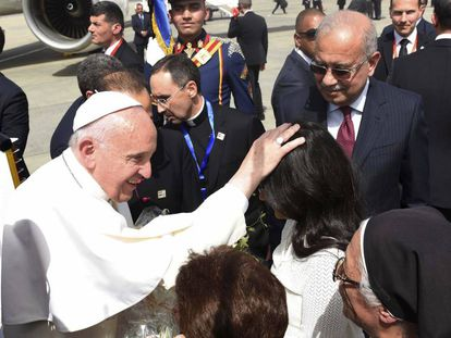 Pope Francis in Egypt on Friday.