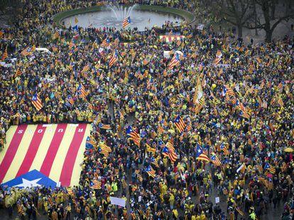 Demonstrators in Brussels on Thursday.