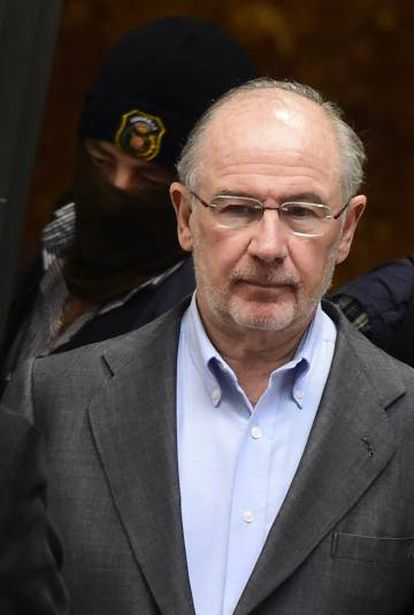 """Rodrigo Rato is the suspected head of a """"corrupt system"""" of embezzlement during his time as a banker ."""