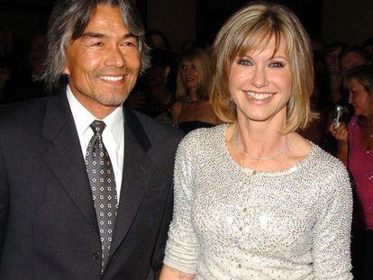 Olivia Newton John and Patrick McDermott, in 2005.