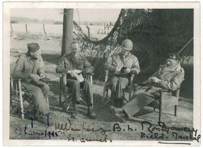 A Castañé Foundation photograph of British Field Marshal Montgomery (right) on March 23, 1945.