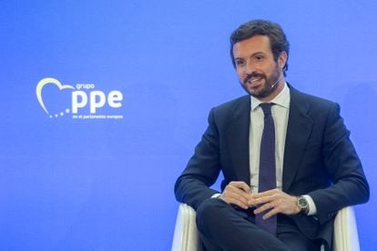 Pablo Casado at a European People's Party event in Madrid on Monday.