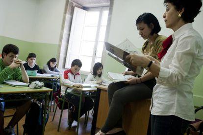 Classes in one of Spain's bilingual schools.