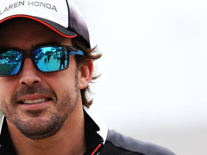 Alonso in Bahrain this morning.