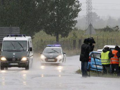 The police van taking Rosario Porto and Alfonso Basterra,toward Teixeiro jail.