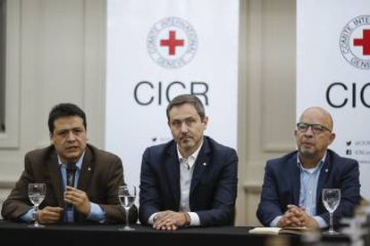 International Commitee of the Red Cross press conference in Buenos Aires.