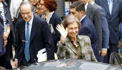 Queen Sofía in Toledo.