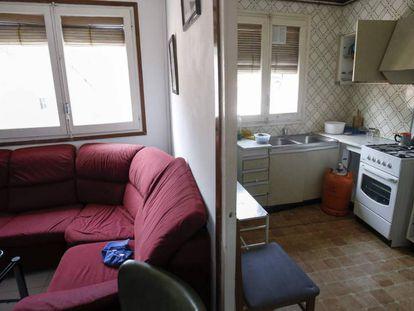 The apartment of Abdelbaki Es Satty in Ripoll, Catalonia.