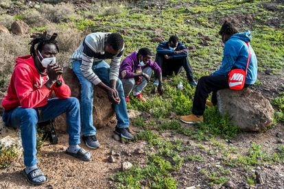Young men from Senegal who opted out of the shelter system are now sleeping in a field on the island of Gran Canaria.