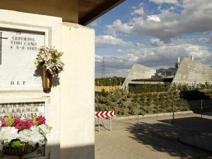 The new crematorium in Carabanchel, located inside the suburb's cemetery.