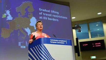 EU Commissioner for Home Affairs Ylva Johansson on Thursday.