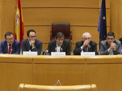 The PSOE group in Congress on Tuesday.