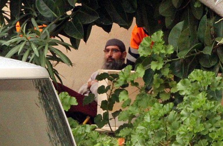 Mustafa Maya Amaya, during his arrest in Melilla.