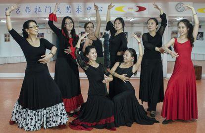 Flamenco students at Portacones, a school in Beijing, China.