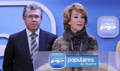 Francisco Granados and Esperanza Aguirre.