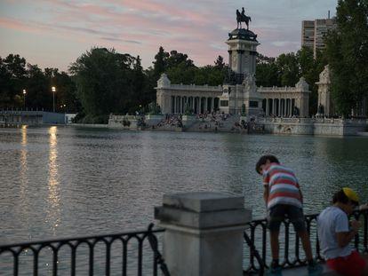 Retiro park in Madrid.