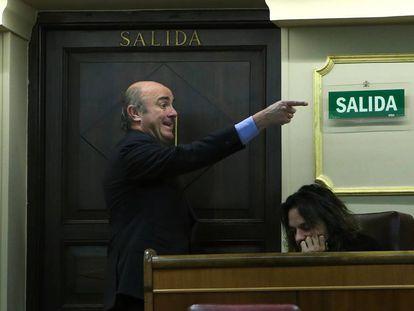 Economy Minister Luis de Guindos in Spanish Congress.