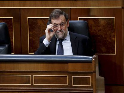 Spanish PM Mariano Rajoy in Congress.