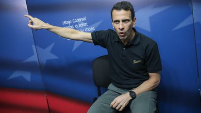 Opposition figure Henrique Capriles in Caracas on March 29, 2019.