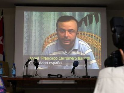 Ángel Carromero explains his side of the accident via video-conference.