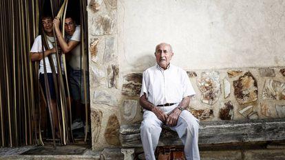 Natalio Regacho, aged 82, former mayor of Olmeda de la Cuesta.
