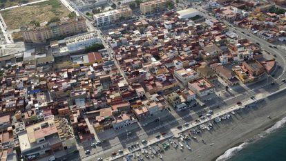 La Atunara neighborhood in La Línea de la Concepción, a hotspot for drug drop-offs.
