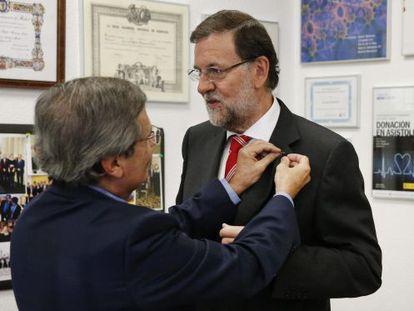 Prime Minister Mariano Rajoy visits the National Transplant Organization.