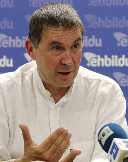 Arnaldo Otegi, leader of the Basque far-left EH Bildu group.
