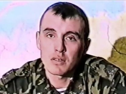 Image of Denis Sergeev in 1999 taken from a documentary on the battle for Alilen.