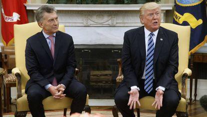 Mauricio Macri and Donald Trump in Washington this Thursday.