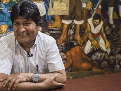 Evo Morales in Mexico City on Wednesday.