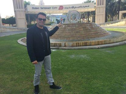 The creator of the 'unete,' José Manuel Ramírez Marco, in Dubai.