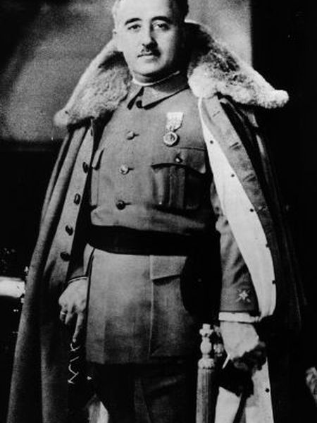 An undated official portrait of Francisco Franco.