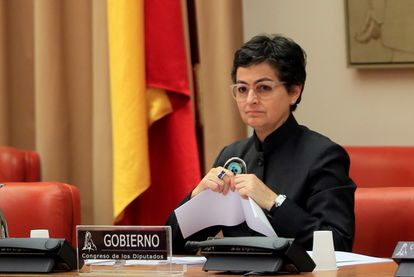 Foreign Affairs Minister Arancha González Laya in Congress on Thursday.