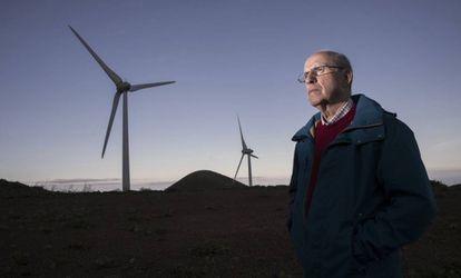 Industrial engineer Tomas Padrón, one of the supporters of wind energy.