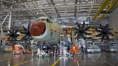 Airbus Military's A-400M assembly line in Seville.