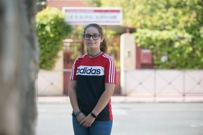 María Saguar is worried about no longer being allowed to practice sports the way she used to.