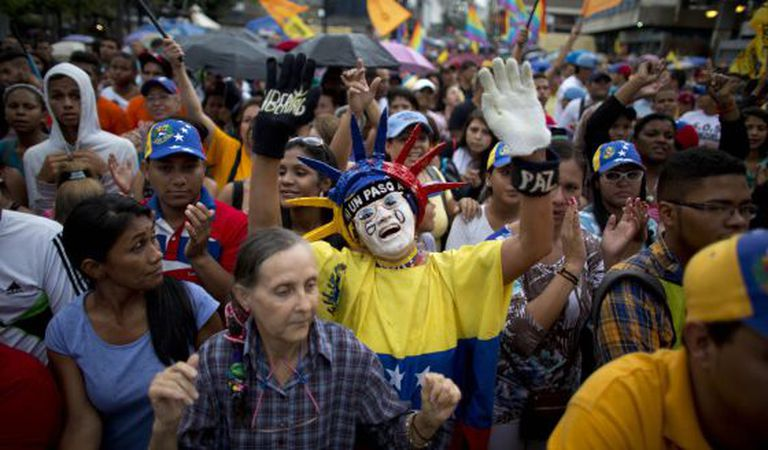 MUD supporters at an electoral event in Caracas on Wednesday.