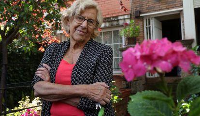 Former mayor of Madrid, Manuela Carmena, in her home.