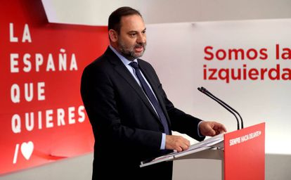 PSOE Organization Secretary and acting public works minister José Luis Ábalos.