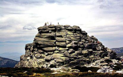 One of the Siete Picos (Seven Peaks), in the Sierra de Guadarrama in Madrid.