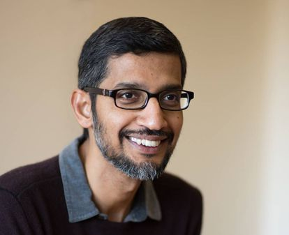 Sundar Pichai, CEO of Google, during the interview.